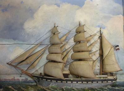 Schiffsmodelle aus dem Museumsmagazin