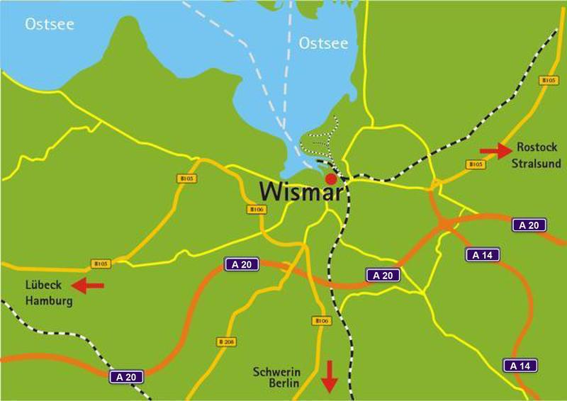Landkarte © Presse, Hansestadt Wismar