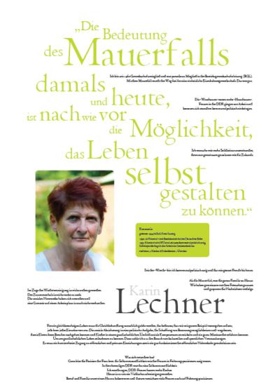 Porträt von Karin Lechner im Rahmen der Ausstellung