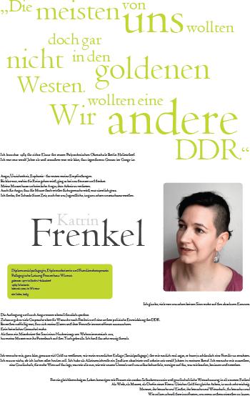 Porträt von Katrin Frenkel im Rahmen der Ausstellung