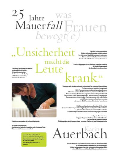 Porträt von Karin Auerbach im Rahmen der Ausstellung
