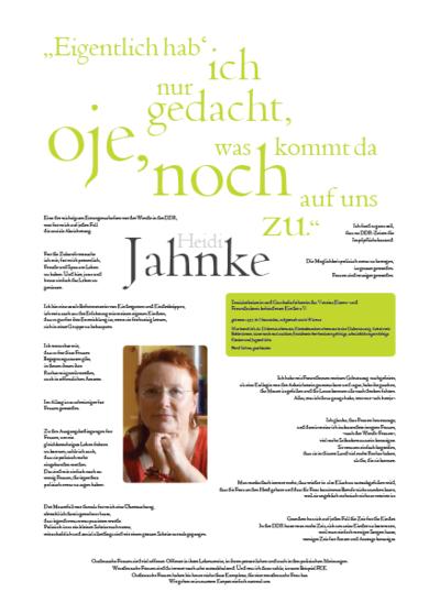 Porträt von Heidi Jahnke im Rahmen der Ausstellung