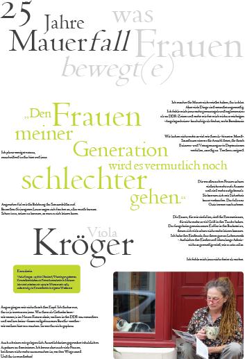 Porträt von Viola Kröger im Rahmen der Ausstellung