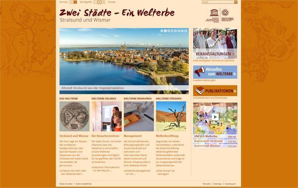 Screenshot der Internetseite
