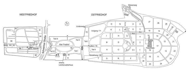 Lageplan Friedhof